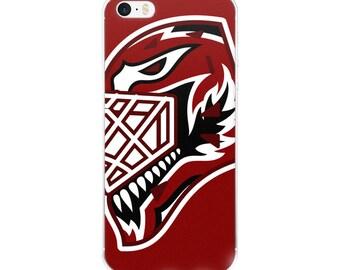 """Maroon """"92"""" Goalie Mask iPhone Case"""