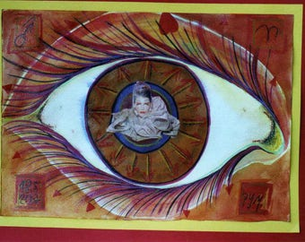 The Eye of the Medusa 2-Zodiac signs Aries-Astrology-Collage