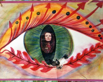The eye of the Medusa and the cat series The zodiac signs-Aries-collage