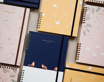 Monday To Sunday DIARY / diary / note / line note / scheduler / calendar / 2018 diary / planner / weekly planner / monthly Planner