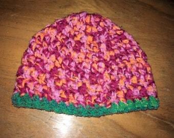 Child's Funky Homemade Crochet Hat