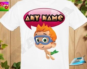 Bubble Guppies Iron On Transfer, Iron On Bubble Guppies, Bubble Guppies Birthday Boy Shirt, Digital Transfer, Personalize