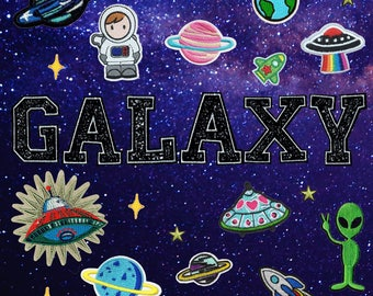 Space patch ,Iron on patches Patch Sew On Patch Patches - Embroidered Iron on patches - GALAXY  patch
