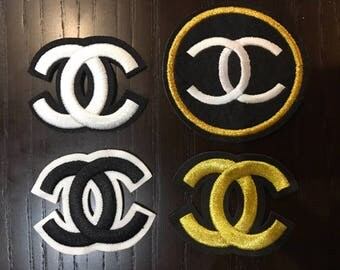 CHANEL CC Patches iron-on sew on Emblem Logo Brand Top quality various sizes from Europe Fabric Embroidered Embroidery Logos Chanel