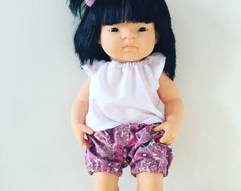 Miniland Doll bloomers and top