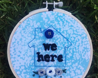 """4"""" House Warming Embroidery"""