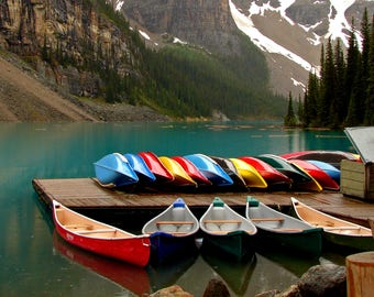 Brilliantly Colored Canoes