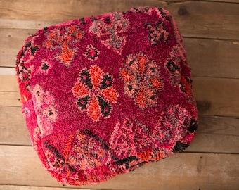 Vintage Moroccan Pouf / Moroccan Boujaad Pouf / Moroccan Floor Pouf / Moroccan Floor Cushion / kilim Pouf / Pouf Cover