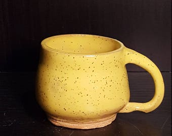 Golden Canary Bunches Handled Cappuccino Mug