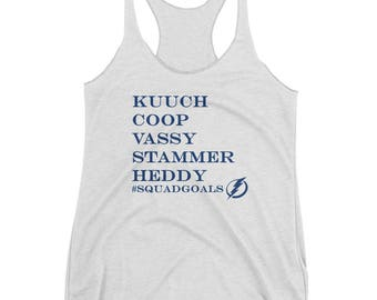 Kucherov, Cooper, Vasilevsky, Stamkos, Hedman Tampa Bay Lightning Hockey Women's Racerback Tank
