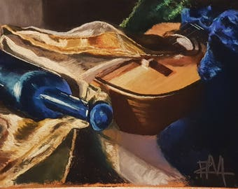 Spanish guitar still life
