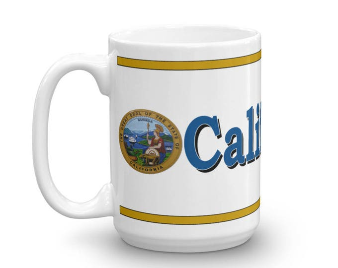 California Mug, California Keepsake, California Memorial, California Pride, Coffee Mug,
