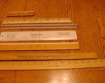 7 Vintage Rulers
