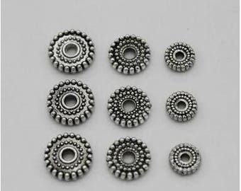 8.5mm * 2mm 100 pcs pack alloy septum spacer gasket DIY jewelry accessories