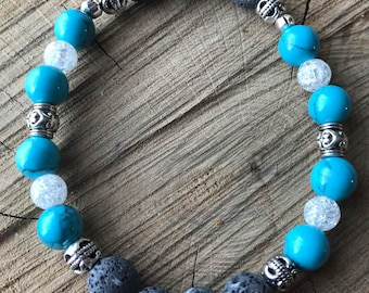 Lava rock essential oil diffuser bracelet