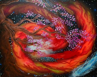 Blossoming Tree Painting