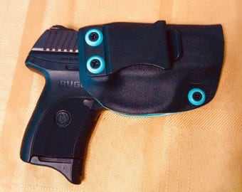 RUGER LC9S 9mm kydex holster, IWB, tiffany blue and black adjustable cant FREE Shipping!