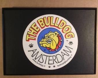 Amsterdam Bulldog Cafe Framed Coaster