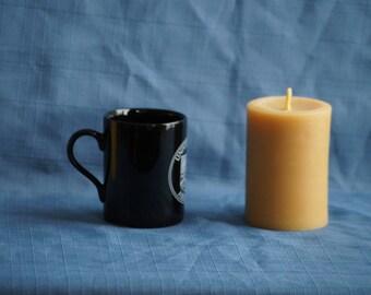 "Midi-Round Handmade 100% Natural Beeswax Pillar Candle 11.4 cm x 7.5cm (4.5"" x 3"")"