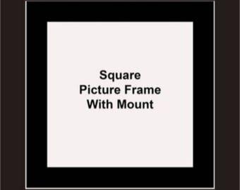 Square Picture Frames - Black Mount - Picture Frames - Album Photo Frames - Wall Hanging Frames - Standing Frames