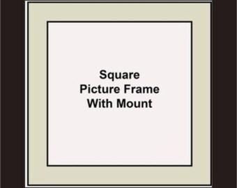 Square Picture Frames - Grey Mount - Picture Frames - Album Photo Frames - Wall Hanging Frames - Standing Frames