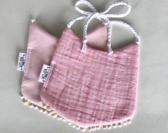 Pink Textured Drool Bib