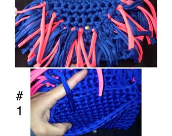 Clutch and purses in crochet