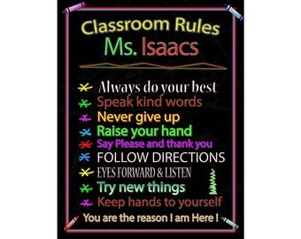 Custom Class, Room Sign, Self Stick Sign, Re-positional Sign, 12 by 16 inches, with fast and free shipping.