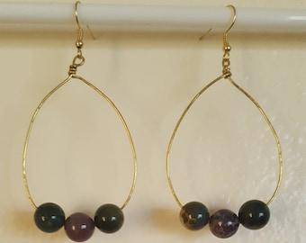 Earthy Handmade Hoop Earrings