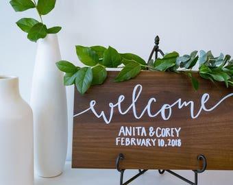 Custom Welcome Wedding Sign