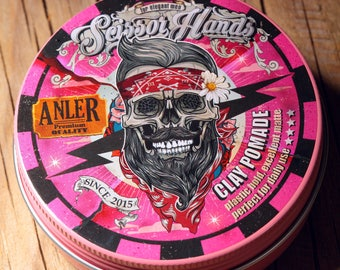 Man hair clay. 3.33 OZ 100Ml wax.pomade.Manly hair wax genuine organic materials with satisfying flavor. Pure manly materials made for style
