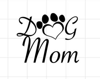 Dog Mom Dog Dad Adhesive Vinyl Decal