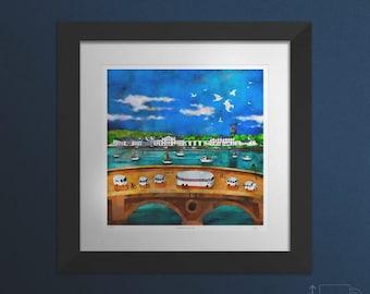 Inveraray Summer. Large framed.