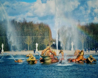 Versailles Print, Versailles Garden Fountain Photo, Palace of Versailles, Travel Photography, France Print, Wall Art, Home Decor