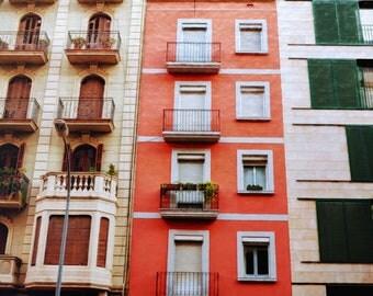 Barcelona Photography, Spain Print, Travel Photography, Wall Art, Europe Photography, Barcelona Balcony Photo