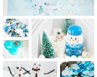 Winter Sensory Bin E-Book (12 Winter-Themed Sensory Bin Activities to do with your little ones)