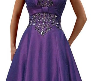 Prom gown evening dress with embroidery
