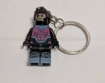 Gambit Mini Figure KeyChain Handmade