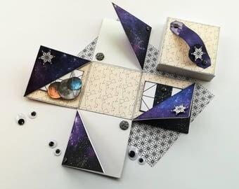 Exploding Box - Explosion Box - Valentines Day - Pop Up Box - Space Box - Galaxy Box - Boyfriend