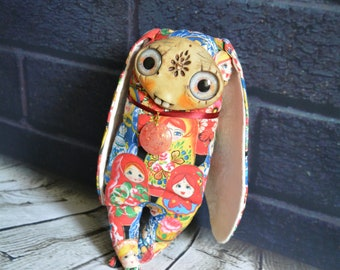 Collectible toy handmade matryoshka doll, Russian doll.children birthday.