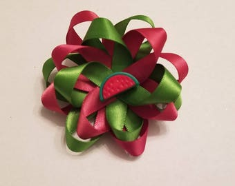 Watermelon Loop Hair Bow