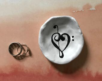 Music Clef Ring Dish