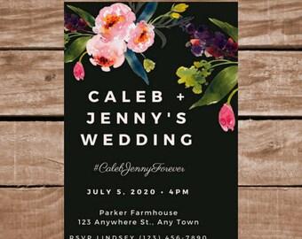 Wedding Invitation - Customize-able Printable