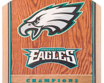 Handcrafted 3D Man Cave Art - Philadelphia Eagles