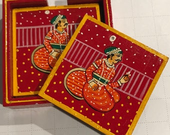 Beautifully hand painted Coasters