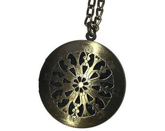 Antique Gold Diffuser Necklace