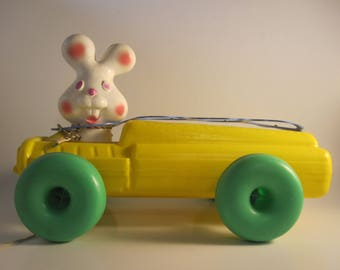 Vintage Empire Easter Bunny Pull Toy