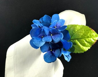 Hydrangea blue Flower Napkin Ring