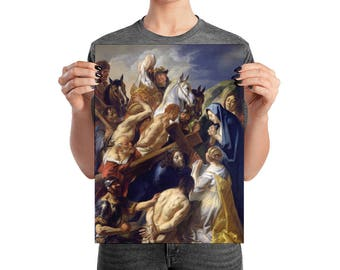 Christ Carrying the Cross - religious wall art - from a religious painting by Jacob Jordaens - Jesus art print