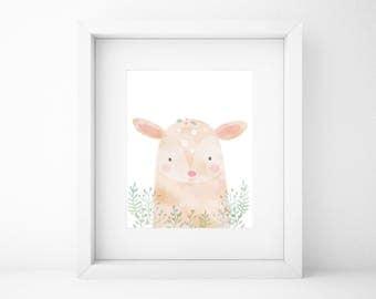 Baby animals prints, Printable wall art, nursery wall art,woodland prints,woodland nursery,nursery decor,woodland wall art,deer,baby room